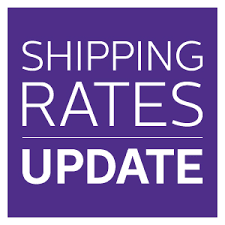 shipping rates update